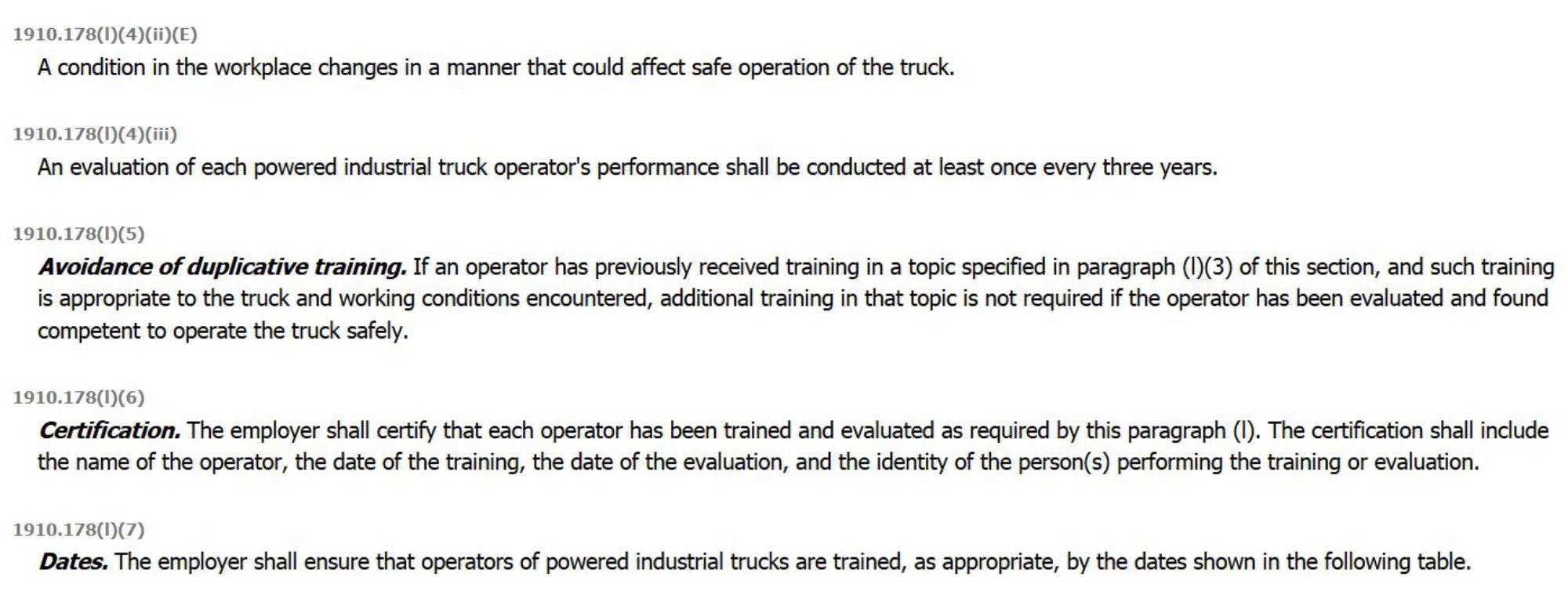 Osha Forklift Operator Traininig Compliance Nashville Tn
